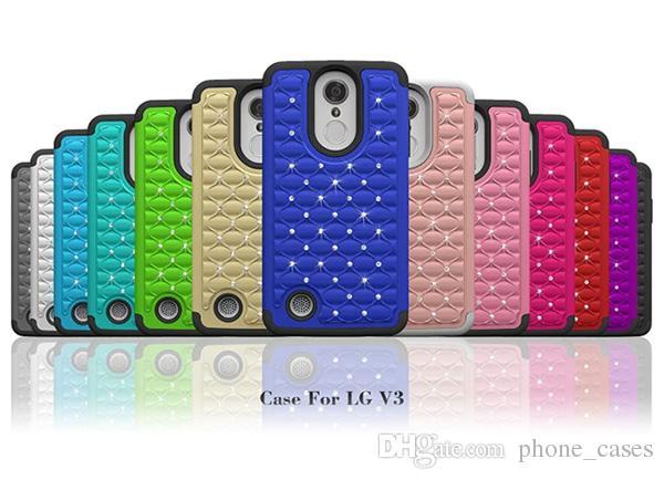 For LG Aristo LV3 MS210 Metropc Luxury Bling Bling Diamond Stars Hybrid Phone Back Cover Grand X4 For Samsung Galaxy J3 Prime iphone