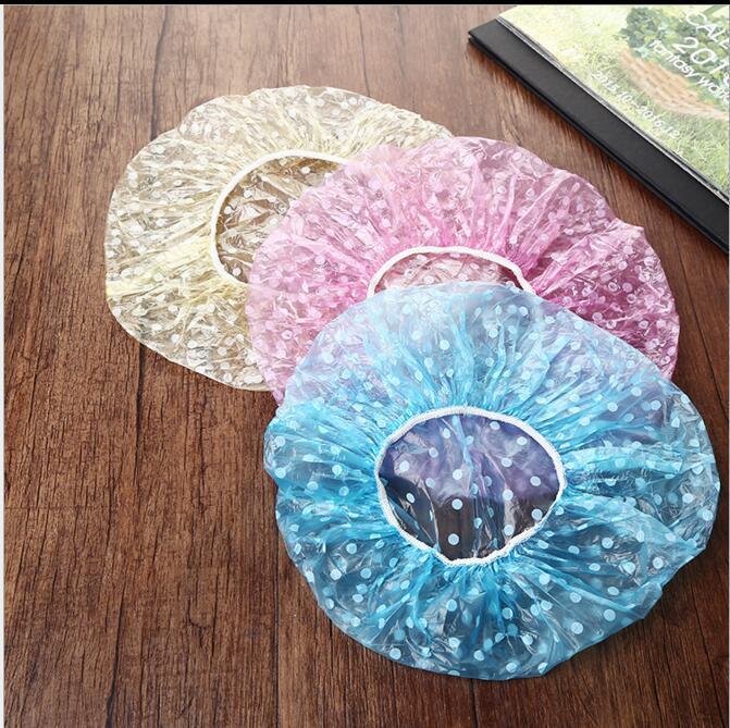 Шапочки для ванны одноразовые Ева пластиковые шапочки для душа мультфильм печати водонепроницаемый резинка для купания Hat Cap масляная чашка кухня абажур шляпа