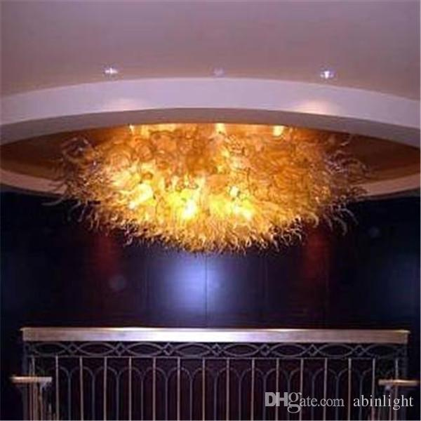 Modern Ceiling Lamps for Hotel Lobby Decoration AC 110V 240V 100% Hand Blown Murano Glass Chandelier Light Modern LED Pendant Lamps