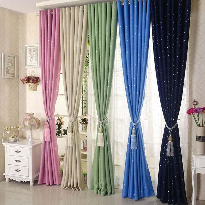Ländlichen Stil Fenster Vorhänge Kinder Schlafzimmer Ornament Multi Farbe  Sterne Form Vorhang Für Zuhause Wohnzimmer Schmücken Home Shading Tuch