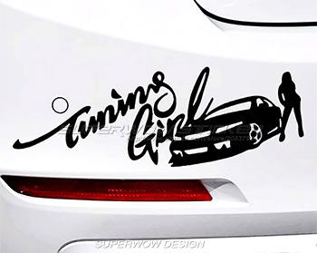 Beauty Racing Girl Personalized Car Stickers Modified - Personalized car stickers and decals