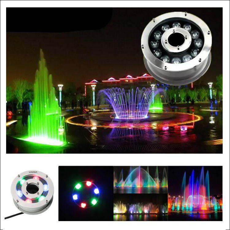 Verde blu DC12V DC24V luce subacquea piscina fontana plaza luci impermeabili Ac 12V tempo di vita lungo IP68