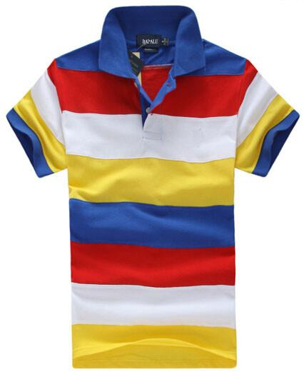 Sport Polo Shirt Design | Grosshandel Fashion Mens Striped Polo T Shirt American Design