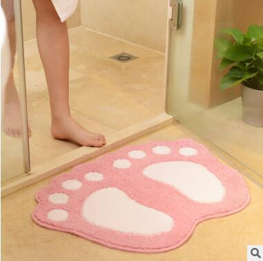 Pies grandes y lindos para el hogar esteras para las puertas del baño esteras para las puertas de dibujos animados alfombras para el baño alfombras de baño