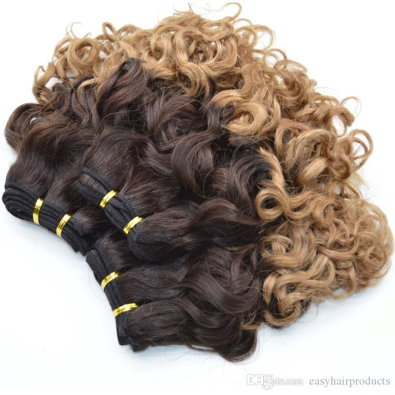 Aunty Funmi Human Hair Weave Nigerian Style Bouncy Spring Romance Curls Ombre Hair Bundles G-EASY