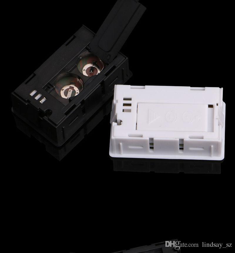 Nuevo negro / blanco Mini Digital LCD Entorno Termómetro Higrómetro Humedad Medidor de temperatura En la nevera de la habitación