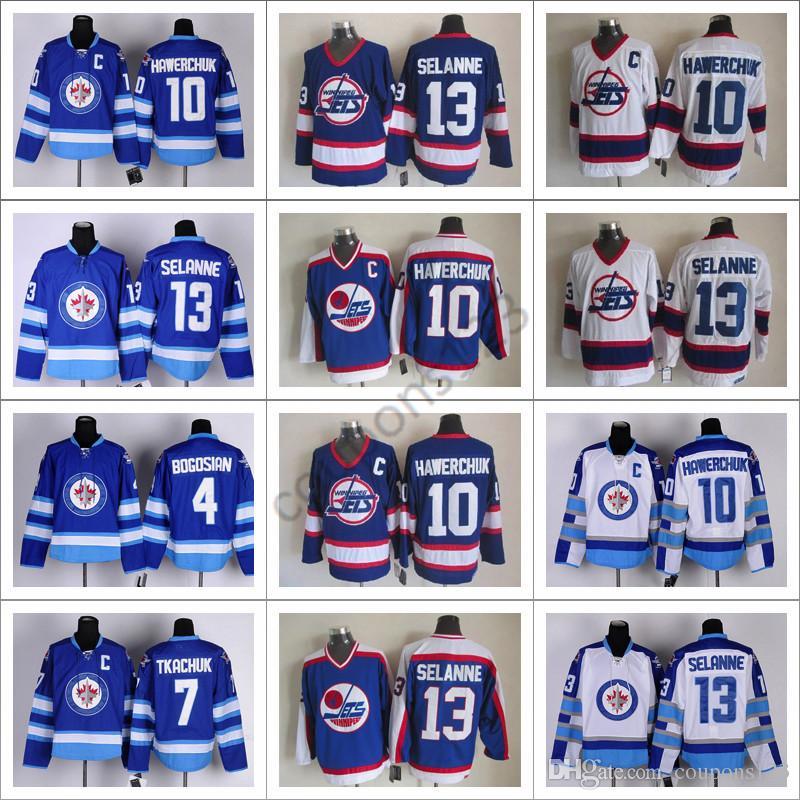 29128d75 ... 2017 new nhl ice hockey winnipeg jets jerseys ccm vintage throwback 13  teemu selanne bobby hull
