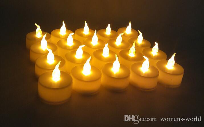 2019 Flicker Light Flameless Led Candle Light Yellow Color