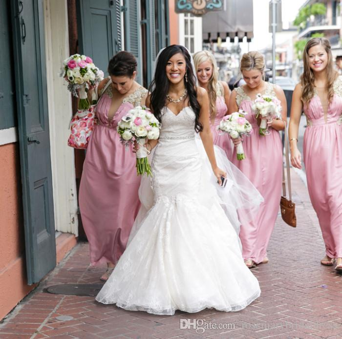 Sweetheart Lace Mermaid Wedding Dresses Fashion Simple