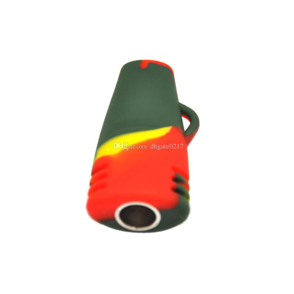 high quality silicone hand pipes Small Portable silicone Oil Burner Bong Silicone Smoking Pipes