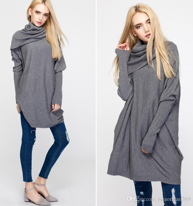 Ladies Winter Loose Turtleneck Sweater And Amazon Explosion ...