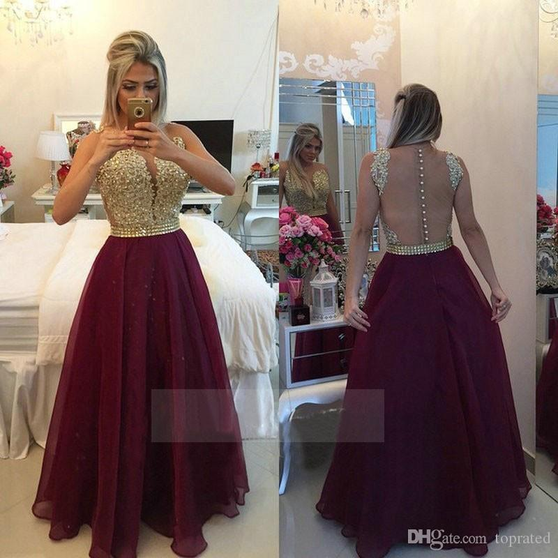 Vestidos Long Appliques Lace Burgundy Gold Champagne Red Bridesmaid Dresses Long 2017 Prom Party Dresses With Crystal Sash Evening Gowns