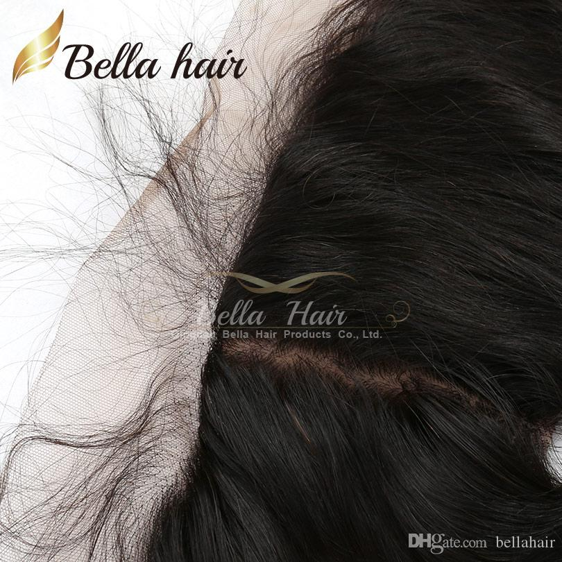 Lace Frontals with Silk Base Ear to Ear Closures 100% Virgin Human Hair Weaves Closure Body Wave Natural Color Bellahair 8A DHL free