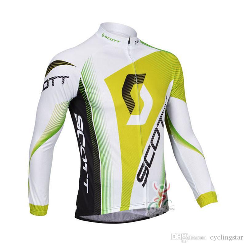 Yeni scott ilkbahar / sonbahar Bisiklet Formaları uzun kollu Bisiklet gömlek mens bisiklet Giyim Bisiklet maillot çabuk kuru ropa ciclismo C0603