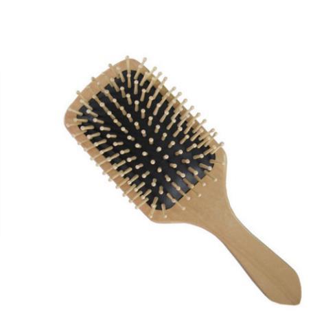 2018 Saç Bakımı Ahşap Spa Masaj Tarak Ahşap Paddle Sivri Kolu Diş Saç Fırçası Antistatik Yastık Tarak