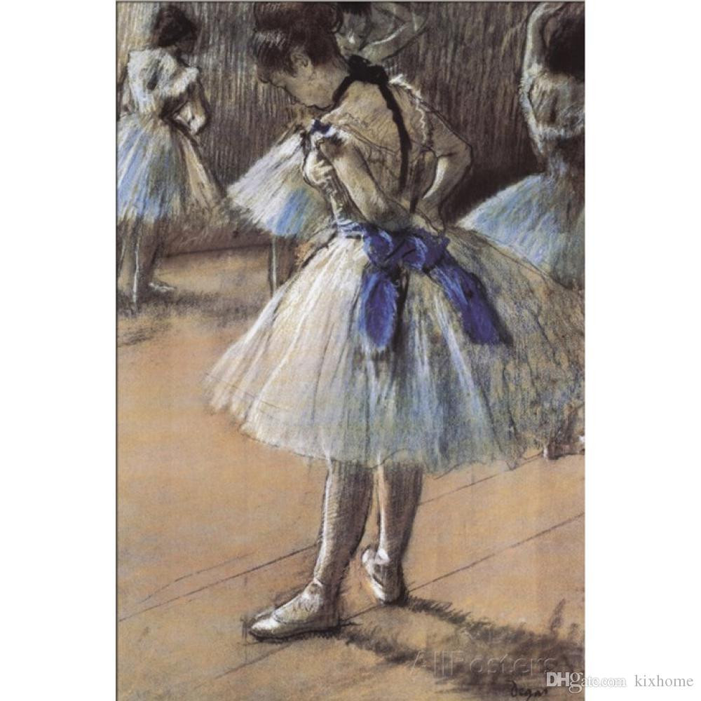 2019 Edgar Degas Art Ballerina Oil Painting Canvas Hand Painted