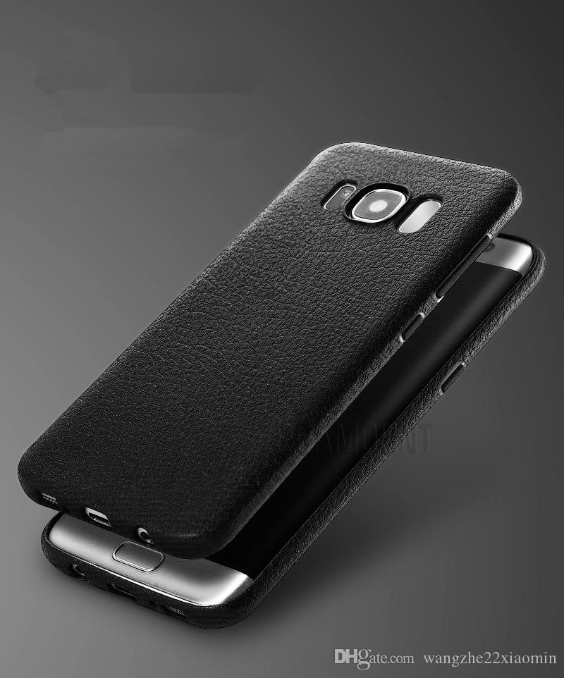Custodia in pelle nera Samsung S8 s8 plus Custodia protettiva telefono