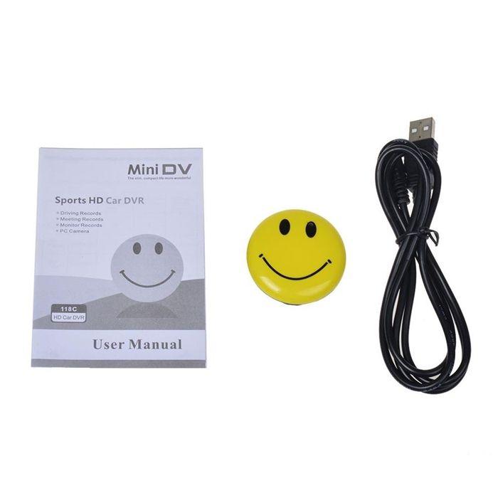 Smile Face Mini Pockrt Camera Mini Security DVR Video Recorder Portable Camcorder Wearable Body Cam DV With Sound Recording
