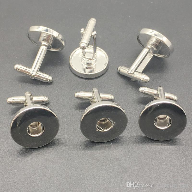 Мода 5Paris / много Серебряный Snap Шарм запонки Diy защелки ювелирные изделия Fit 18 мм имбирь защелки кусок Шарм кнопка
