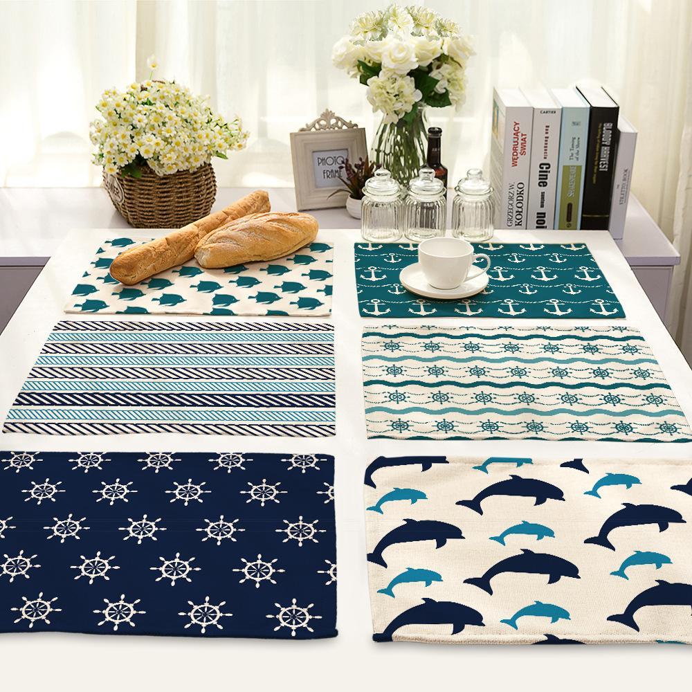 2020 16 Design Mediterranean Style Linen Cotton Placemat