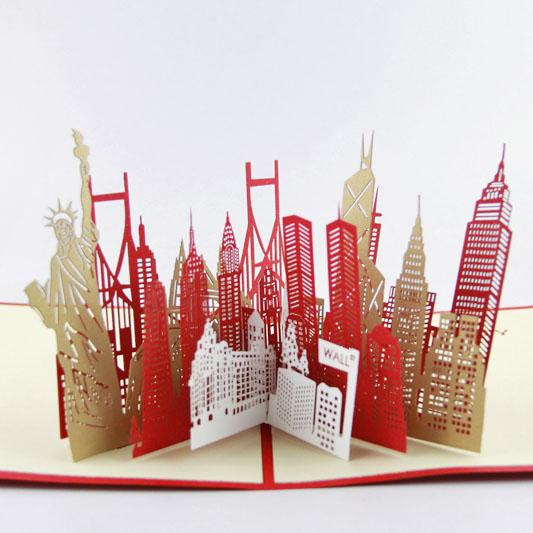 Wholesale the new york city silhouette card3d kirigami card wholesale the new york city silhouette card3d kirigami card handmade greeting cards gift for men gift craft home decor gift bags for favors card encoder m4hsunfo