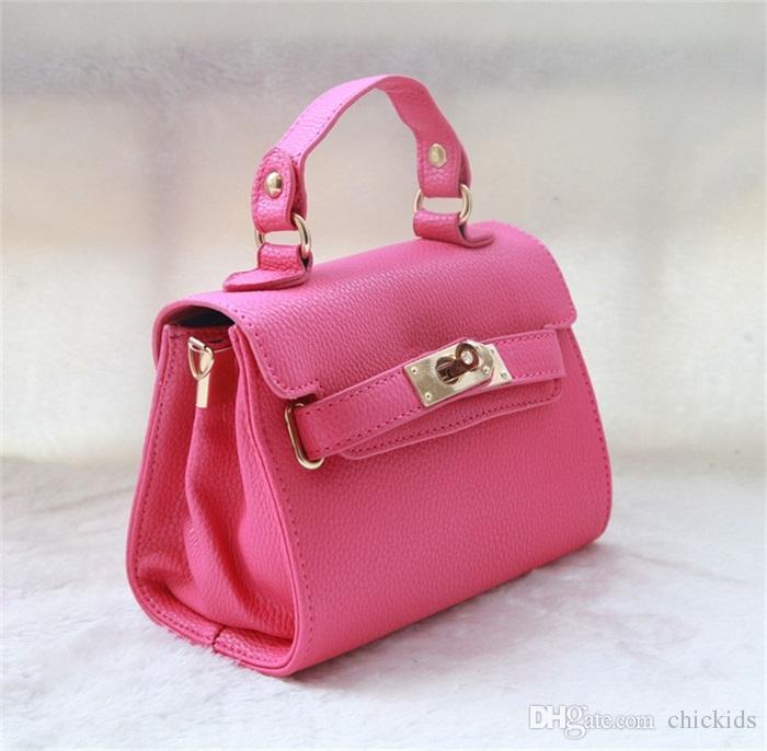 Fashion Kids PU Leather Handbag Baby tote bag Girls Designer Mini Handbags Messenger Bags Children's Purses Baby Girl Shoulder Bag CK026