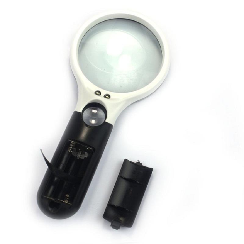 Yeni 3 LED Işık 45X El Mini Cep Mikroskop Okuma Büyüteç Lens Takı Büyüteç YB360-SZ +