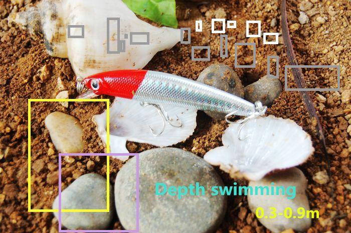 Testa rossa 3D occhi minnow Wobbler dell'esca di pesca esche da pesca topwater difficile accessori la pesca esche artificiali pesca affrontano ganci