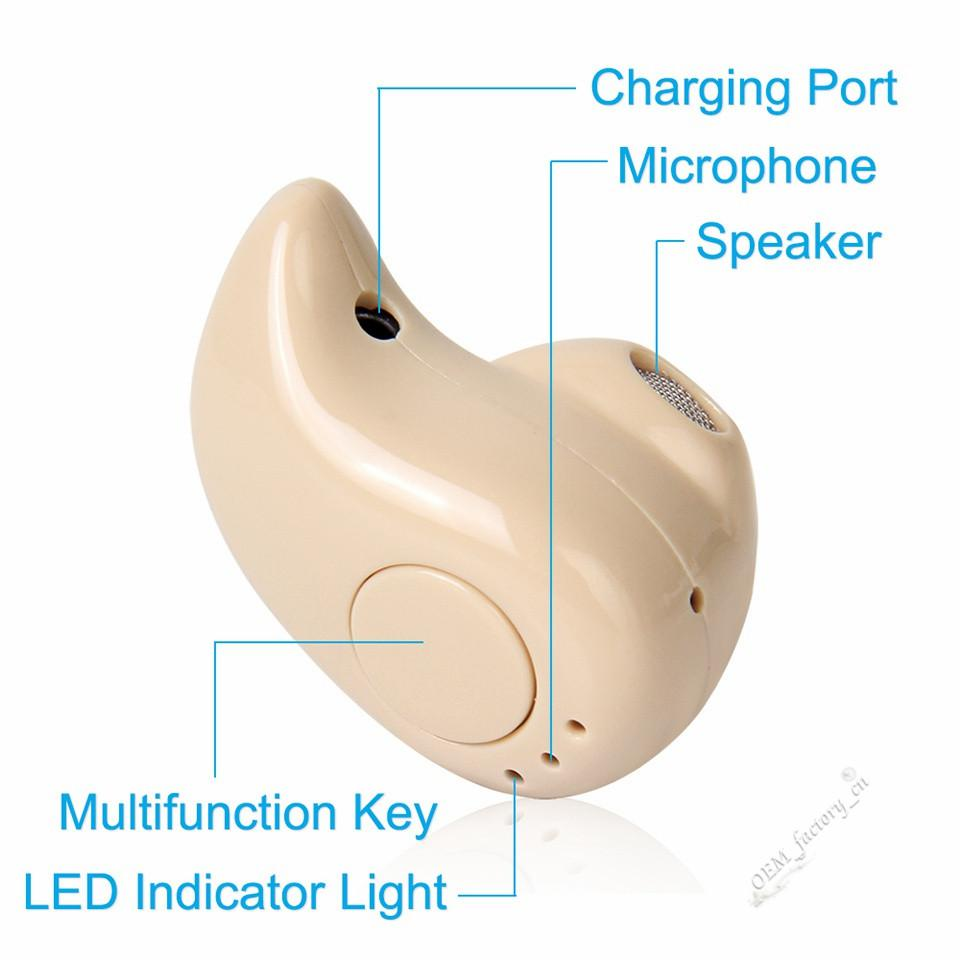 For iPhone X S530 Mini Wireless 4.1 Bluetooth Earphone Stereo Light Stealth Headphone Small Earbud With Mic Ultra-small Hidden Headset