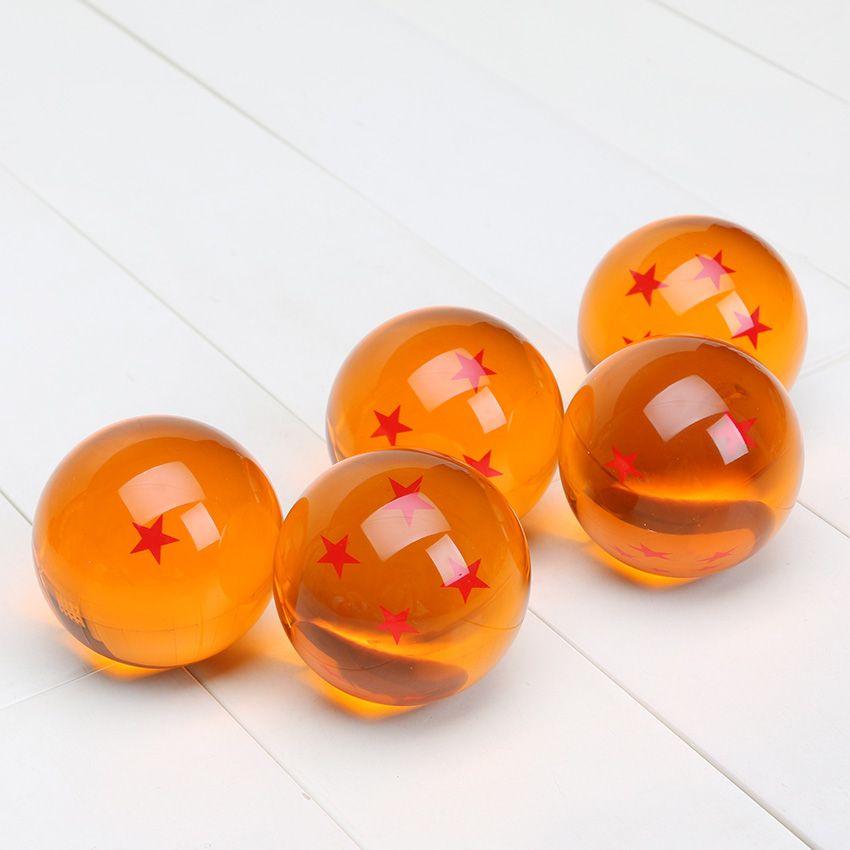 Nuevo 5.7cm Dragon Ball Z Nuevo en caja DragonBall Juego de 7 bolas de cristal de 7 bolas de Dragon Ball Z Juego completo