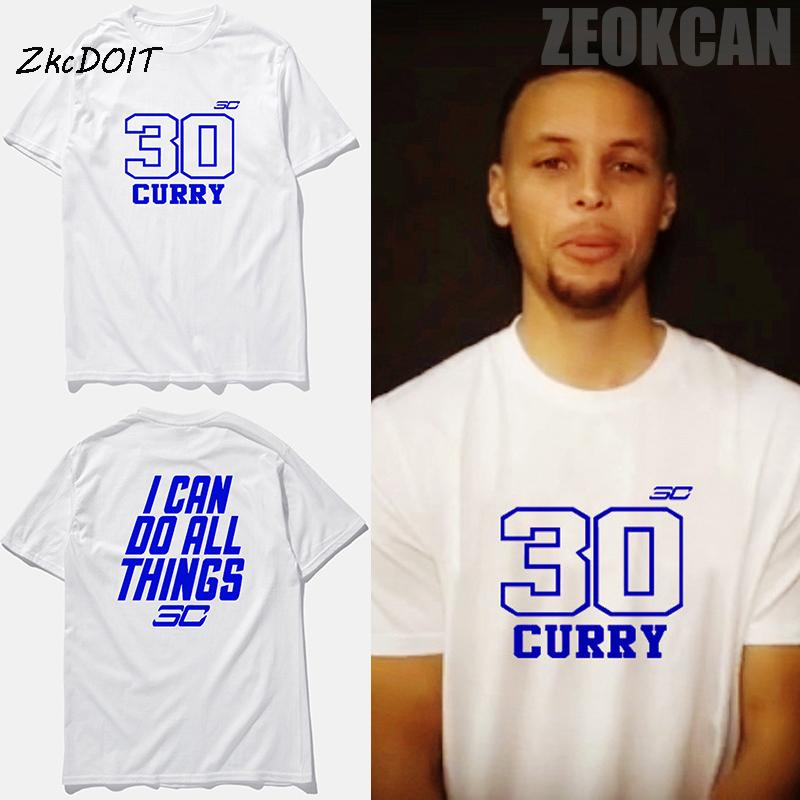 Stephen Curry Jersey T Shirt Men I Can Do All Things 30 Basketball Tee Brand Clothing Short Sleeve Top TeeTx2386 Cheap Funny Shirts