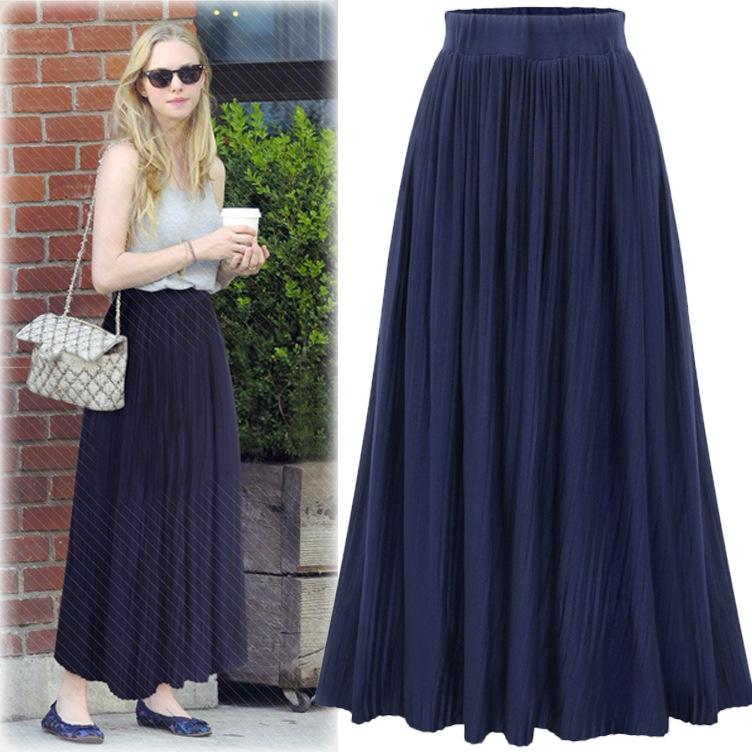 553c3b63e3f 2017 New High Waisted Pleated Skirt Dress All-match Pleated Skirt Thin  Color Dress Pleated Skirt Skirts Online with  31.14 Piece on Hsk999 s Store