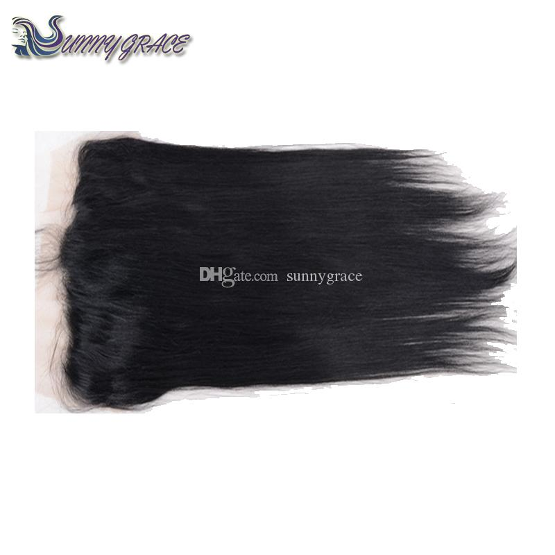 human hair bundles with lace closure 13x4 silky Straight Virgin Hair Weaves Extensions With Lace Frontal Closure malaysian hair