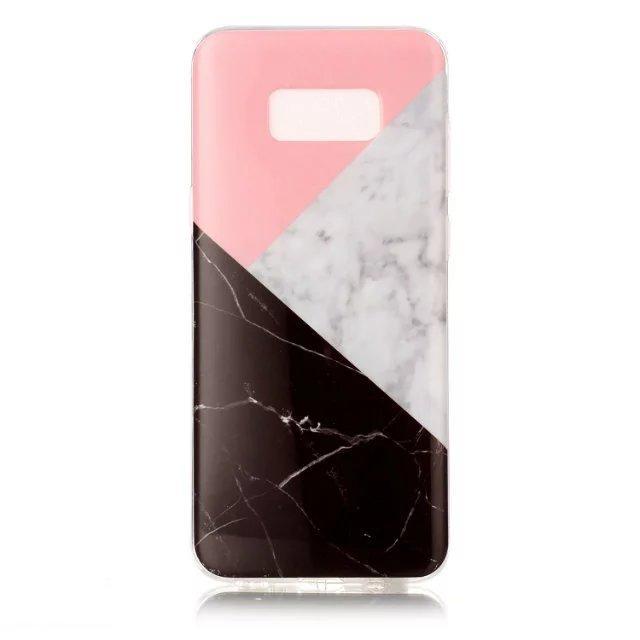 Для Samsung Галактики J5, в нашей стране С8 J3 и J7 с 2016 компания Huawei П8 П9 облегченный камень мраморный камень зерна мягкой ТПУ IMD для крышки случая кожи для iPhone