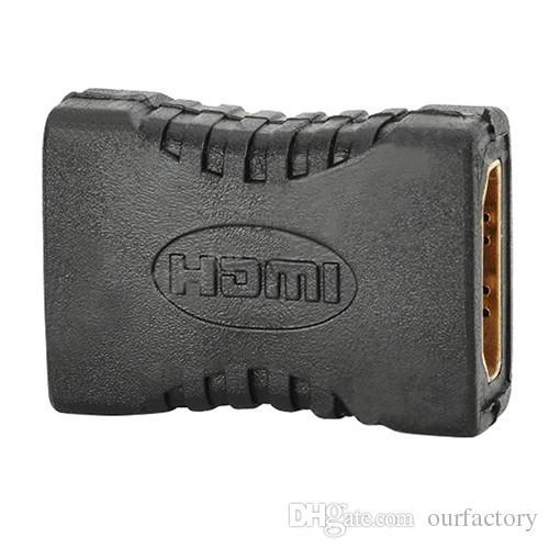 2017 Nuovo HDMI Femmina a Femmina F F Coupler Extender Adattatore Connettore HDTV HDCP 1080P Femmina Converter Nero All'ingrosso 500ps / lotto