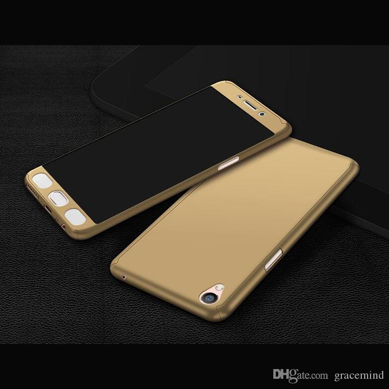 360 Degree Matte PC phone case for OPPO R15 R11 Plus R9S Plus with screen protector full cover cases Back case Phone cover
