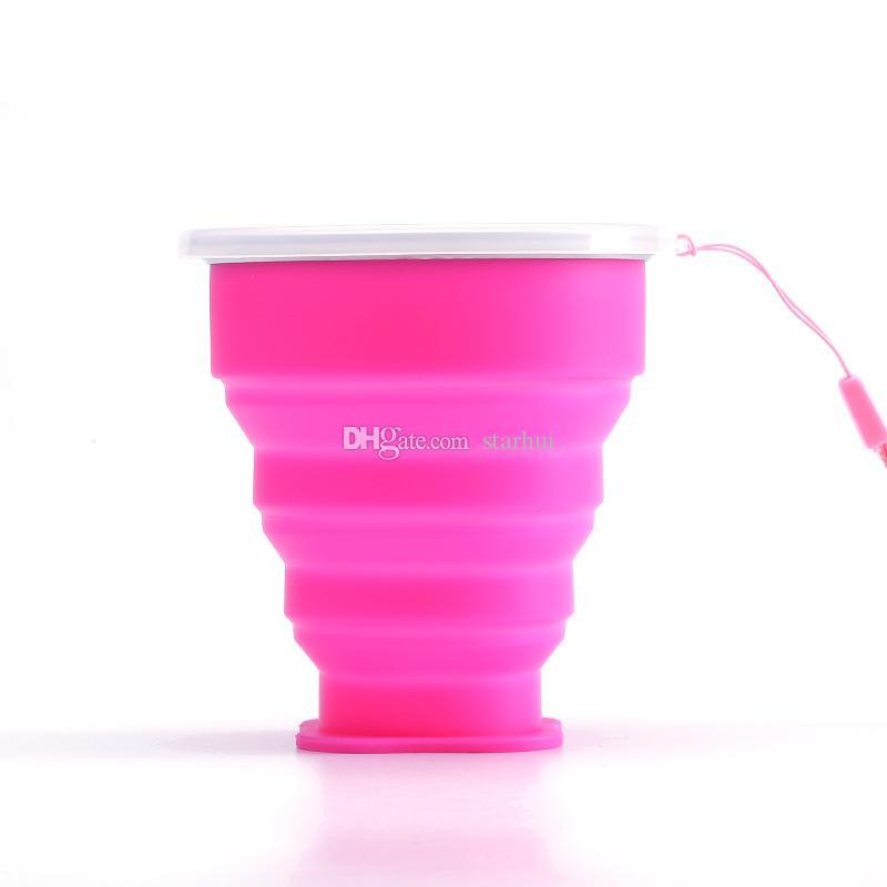 Складная Чашка Разборная Кружка Напитка Кружка Воды Силиконовая Открытый Бутылка Воды Путешествия Разборная Кружка Чашки Воды На Складе WX-C51
