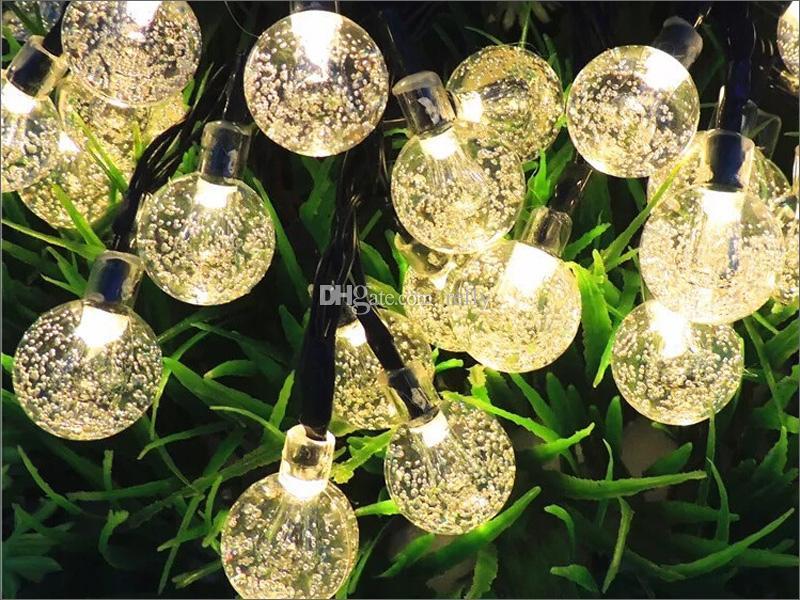 30 Leds Işıkları Parti Noel Güneş led Noel Işıkları LED Dizeleri Işık Lambası Güneş Dize Ampuller Su Geçirmez 6.5 M
