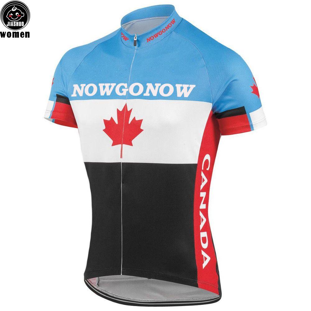 Women Customized NEW CANADA Bike mtb road RACE Team Pro Cycling Jersey / Shirts & Tops Clothing Breathing Air JIASHUO