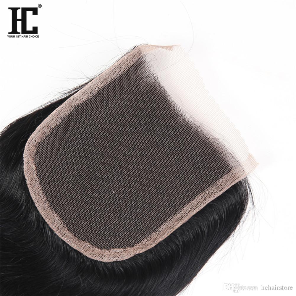 4 bundles capelli vergini peruviani con chiusura capelli vergini dritto con chiusura in pizzo capelli umani non trattati con chiusura