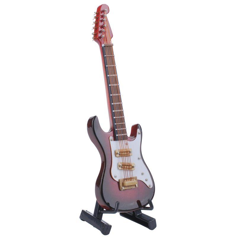 Ручной мини-инструмент Электрическая гитара Модель украшения Деревянные миниатюрные инструменты гитары игрушки
