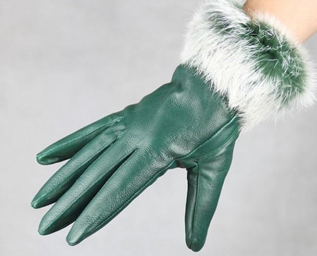 Rękawice skórzane Fryzury Fringed 5 Fingure Rękawice Rękawice Skórzane Rękawiczki 12 par /