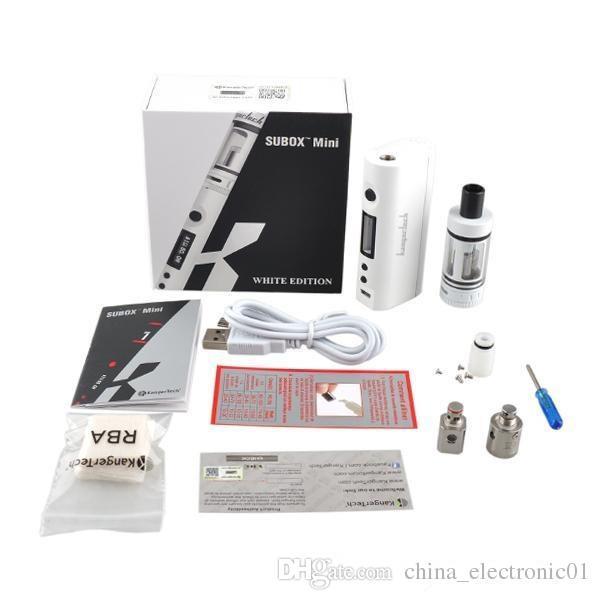 Kanger subox mini starter kit 50 w KBOX mini com subtanque atomizador 0.3ohm kanger subox kit VCC subox nano e cigarro vaporizador