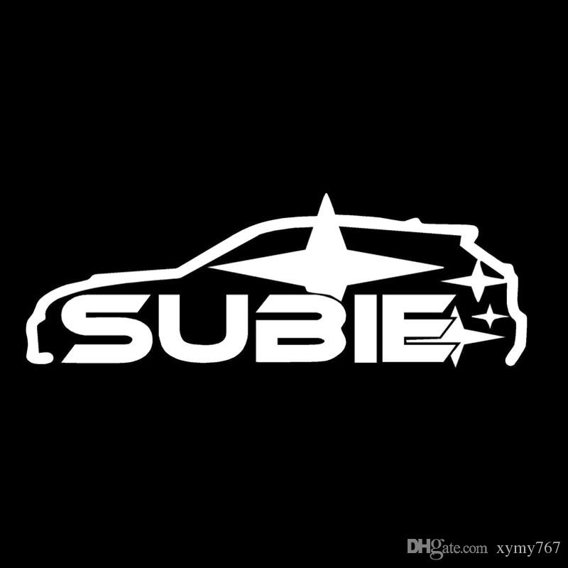 Online cheap hot sale personality subie jdm import tuner car sticker vinyl graphics decals creative car accessories decorative car styling decal jdm by