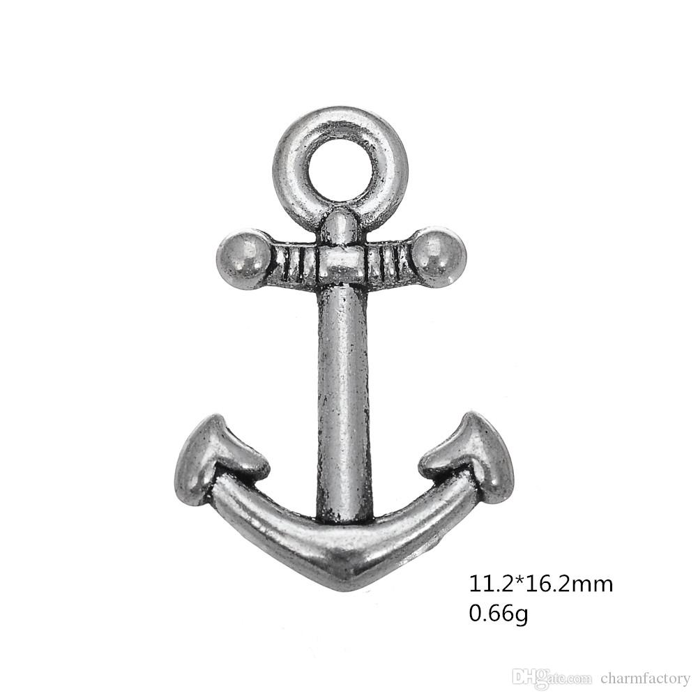 anchor nautical decorative Charms Antique Silver Plated Charm DIY Necklace&Bracelet Jewelry Special style hot sell style