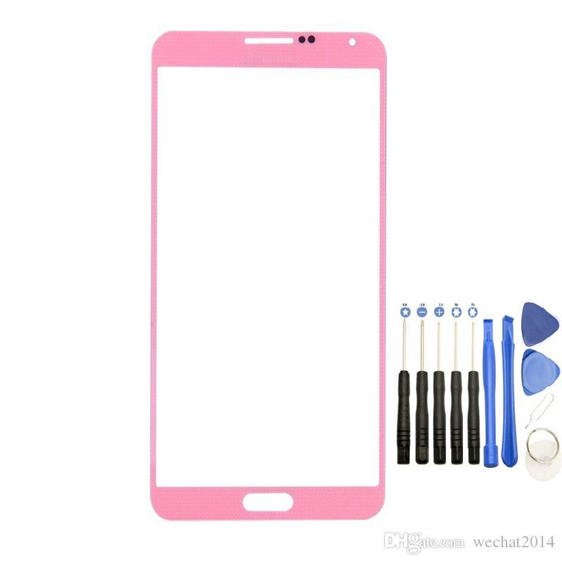 استبدال الزجاج الأمامي شاشة تعمل باللمس الخارجي ل Samsung Galaxy Note 3 N9000 N9008 Glass with Tools