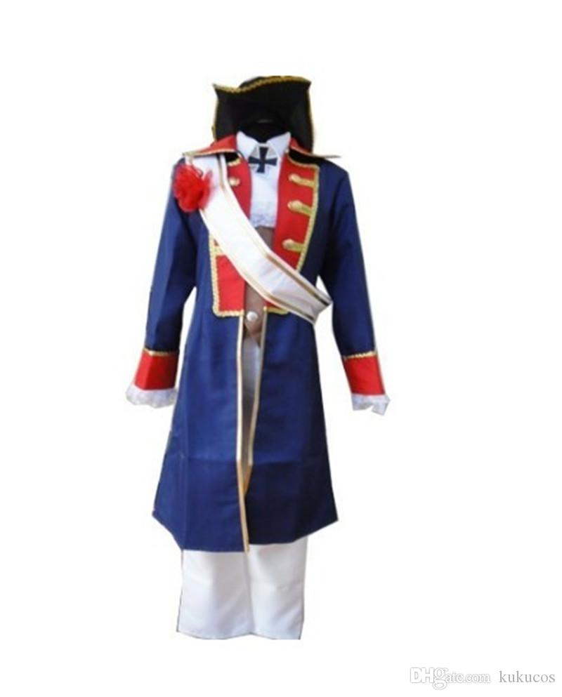 Kukucos Anime Halloween Party Suit APH Hetalia Axis Poderes Hetalia América Traje Cosplay