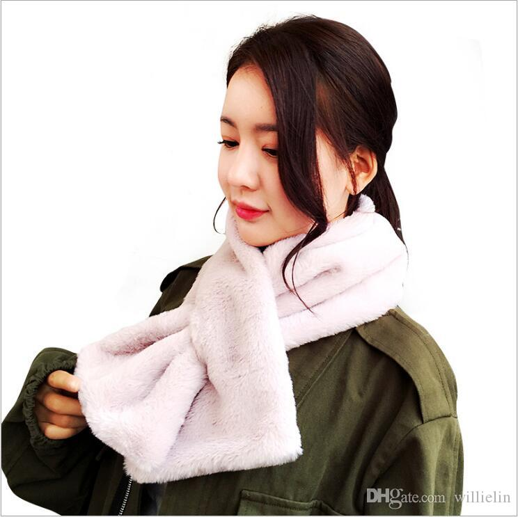 2017 new south Korean edition of winter soft and warm and comfortable warm and warm imitation of lady rabbit hair scarf