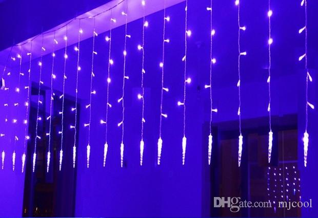Holiday Lighting 4x0.6 M Icicle Colorful Christmas Fairy LED Curtain Chain Luminarias Garland Christmas Decoration LED Light