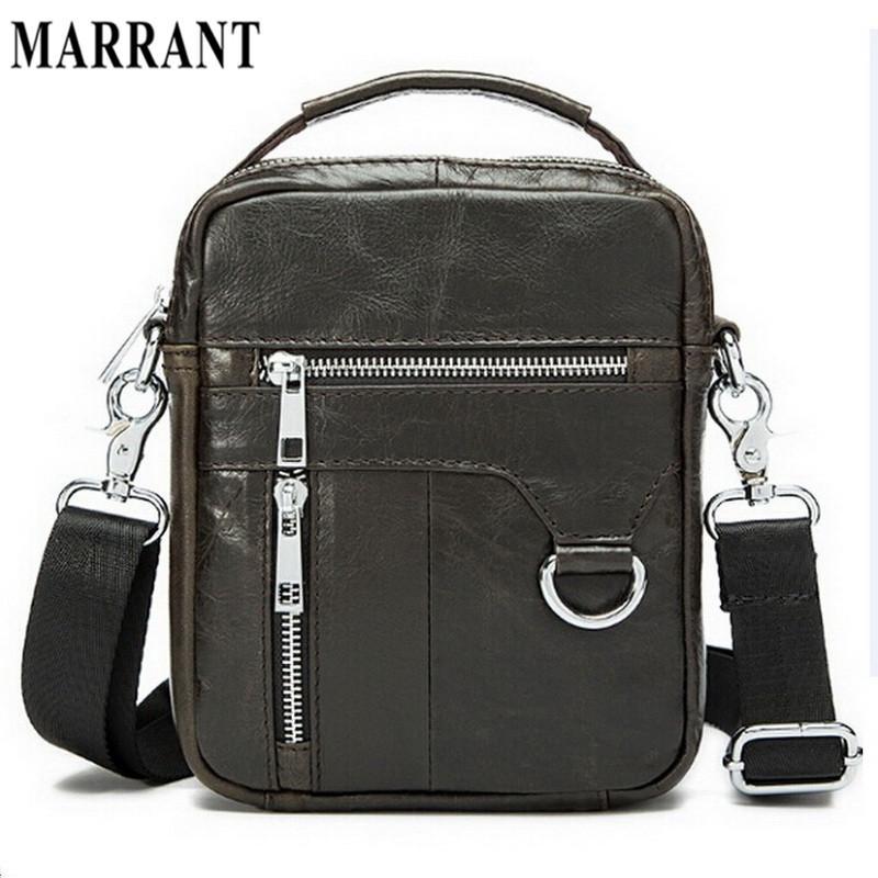 Wholesale Marrant 100% Genuine Leather Men Bags Classic Male Crossbody  Shoulder Handbag Man Fashion Messenger Bag Men Hot Sale Bags 9023 Hobo Bags  Designer ... 9bf5d46b383a9